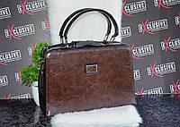 Оригинальная, коричневая сумка-саквояж