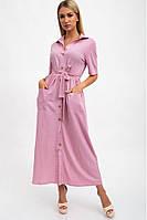Пудровое, длинное, платье женское 115R3731-2