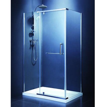 Кабіна душова, квадратна, 100х100, без піддона, скло прозоре FEN2223 COMFORT, фото 2