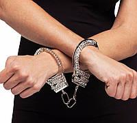 Металлические наручники со стразами, фото 1