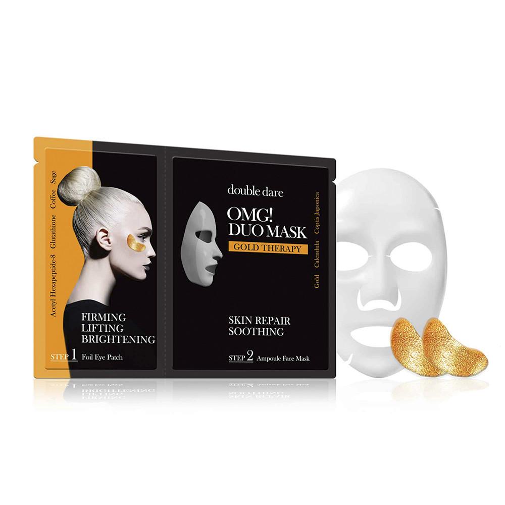 """Двокомпонентний комплекс з маски і патчів """"Відновлення"""" Double Dare OMG! Duo Mask Gold Treatment"""