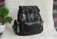 Стильний міський рюкзак чорний, фото 1