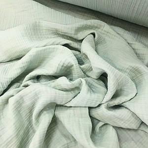 Ткань муслин жатый четырехслойный, мятный (шир. 1,3м)