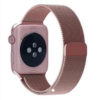 Ремешок BeWatch миланская петля Apple Watch 42 мм / 44 мм + силиконовый чехол Розово-золотой (Amaz0018)