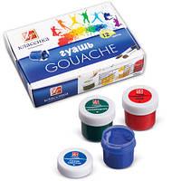Краски гуашевые Луч Классика 12 цветов 20 мл в картонной упаковке (19С1277-12) (4601185007882)
