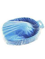 Чохол для манікюрної ванночки 35х35 см (25 шт/пач) з поліетилену  Колір: прозорий