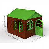 Детский домик со шторами пластиковый, фото 4