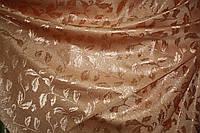 Штора портьера Персиковый листик люрикс