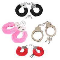 Меховые наручники разные цвета, фото 1