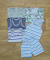 Полосатая детская борцовка с шортами мальчику хлопок . интернет магазин детской одежды из хлопка