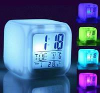 Нічник-будильник з термометром, фото 1