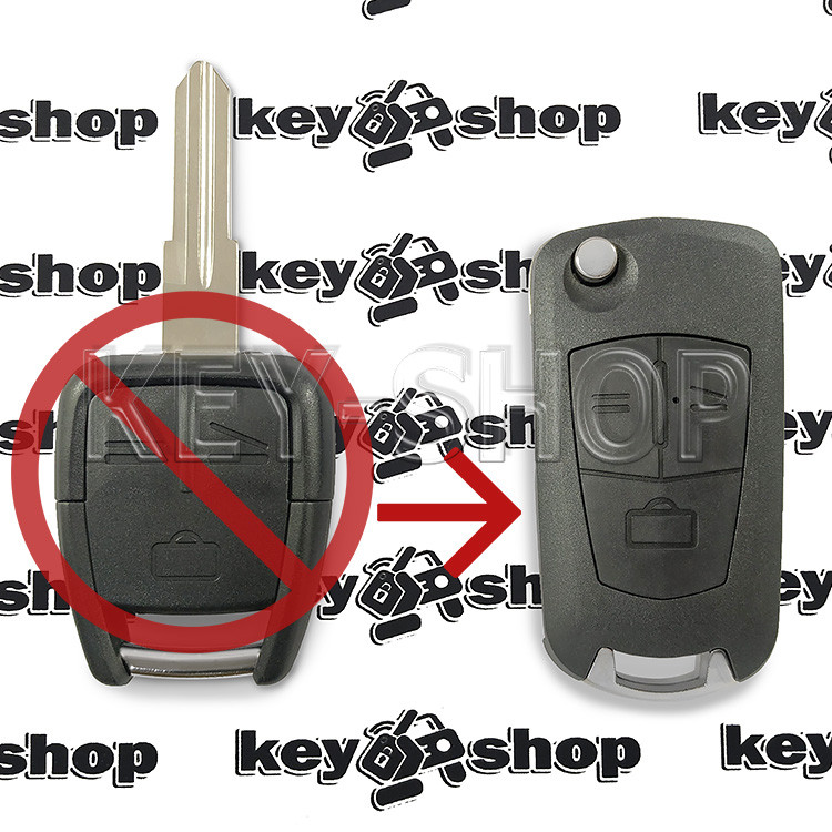Корпус выкидного автоключа Opel (Опель) 3 кнопки, лезвие HU46P (под переделку)
