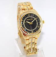 Часы Michael Kors золотые с черным экраном, фото 1