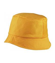 Панама летняя однотонная желтая хлопок 006-34