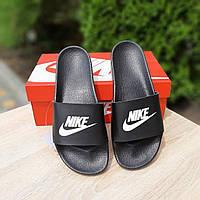 Женские черные Тапки Nike реплика, фото 1