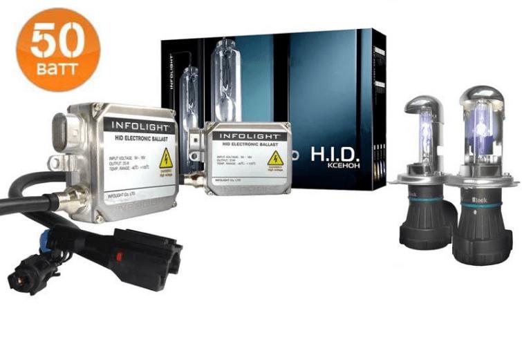 Комплект ксенона Infolight Expert PRO + обманка H4 4300K