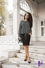 Платье французский трикотаж с принтом батал , фото 2