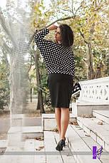 Платье французский трикотаж с принтом батал , фото 3