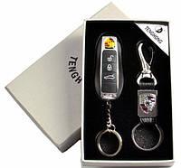 Подарочный набор Porsche Порше 2в1 зажигалка и брелок, фото 1