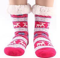 Домашні Жіночі Напівшерстяні Тапочки-Шкарпетки з Антиковзною Підошвою 36-38 розмір, фото 1