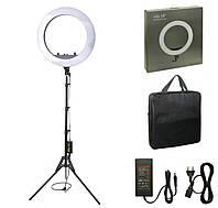 Кольцевая светодиодная Led Лампа 45 см 55 Вт, штатив 200 см, чехол / кольцевой свет, селфи лампа