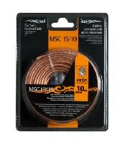 Акустический кабель+клеммы для обжима MSC -15/10, 10 м в блистере,15 Ga,2х1,5 мм