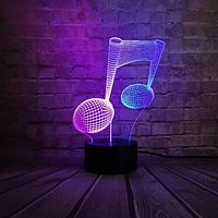 Cветильник 3D Ansell Музыкальная Нота