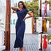 Р 50-56 Летнее длинное платье - халат Батал 21918
