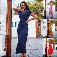 Р 50-56 Летнее длинное платье - халат Батал 21918, фото 1