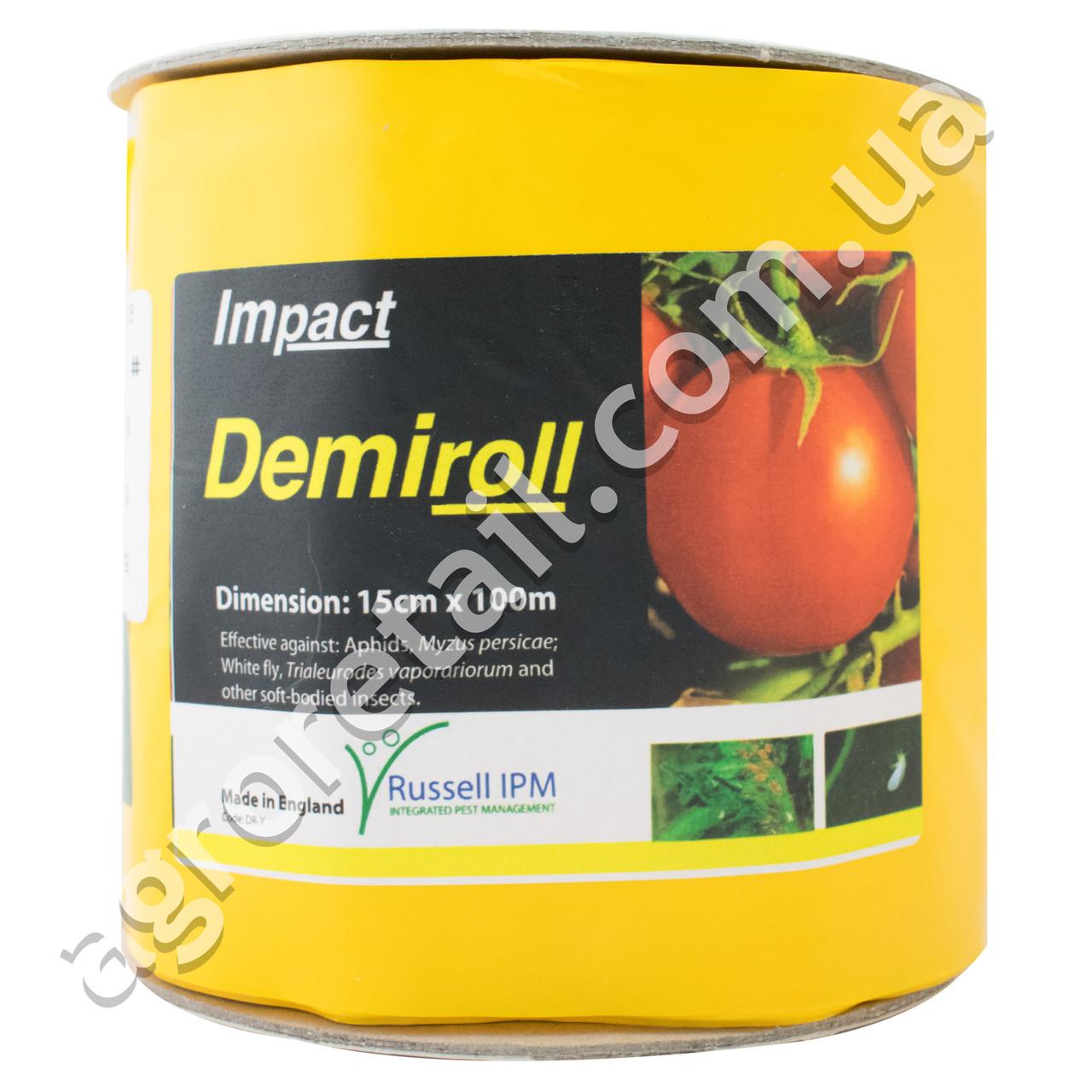 Клеевая ловушка Russell IPM Demiroll Tuta+ без рисунка с феромоном желтая рулон 0.15x100 м
