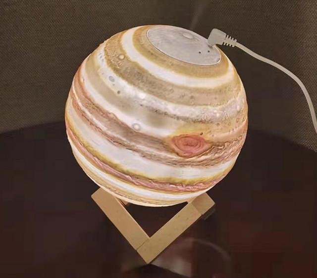 Увлажнитель воздуха - 3Д светильник Планета Уран. Диффузор-ночник Планета