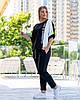 Прогулочный черный женский костюм (2 цвета) PY/-1047