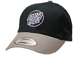 Черная бейсболка, кепка мужская, женская коттон  Санта Круз  Santa Cruz