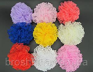 Бантики на резинках Ø9 см цветные 20 шт/уп.