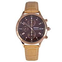 Женские часы Seiko SNDX04P1 Chronograph BROWN Dial