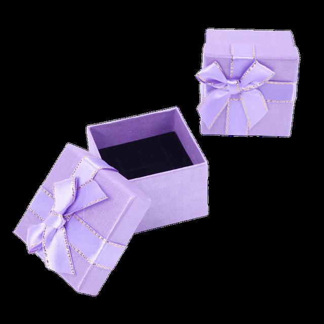 Картинка Бумажная коробочка box1-1 Фиолетовый