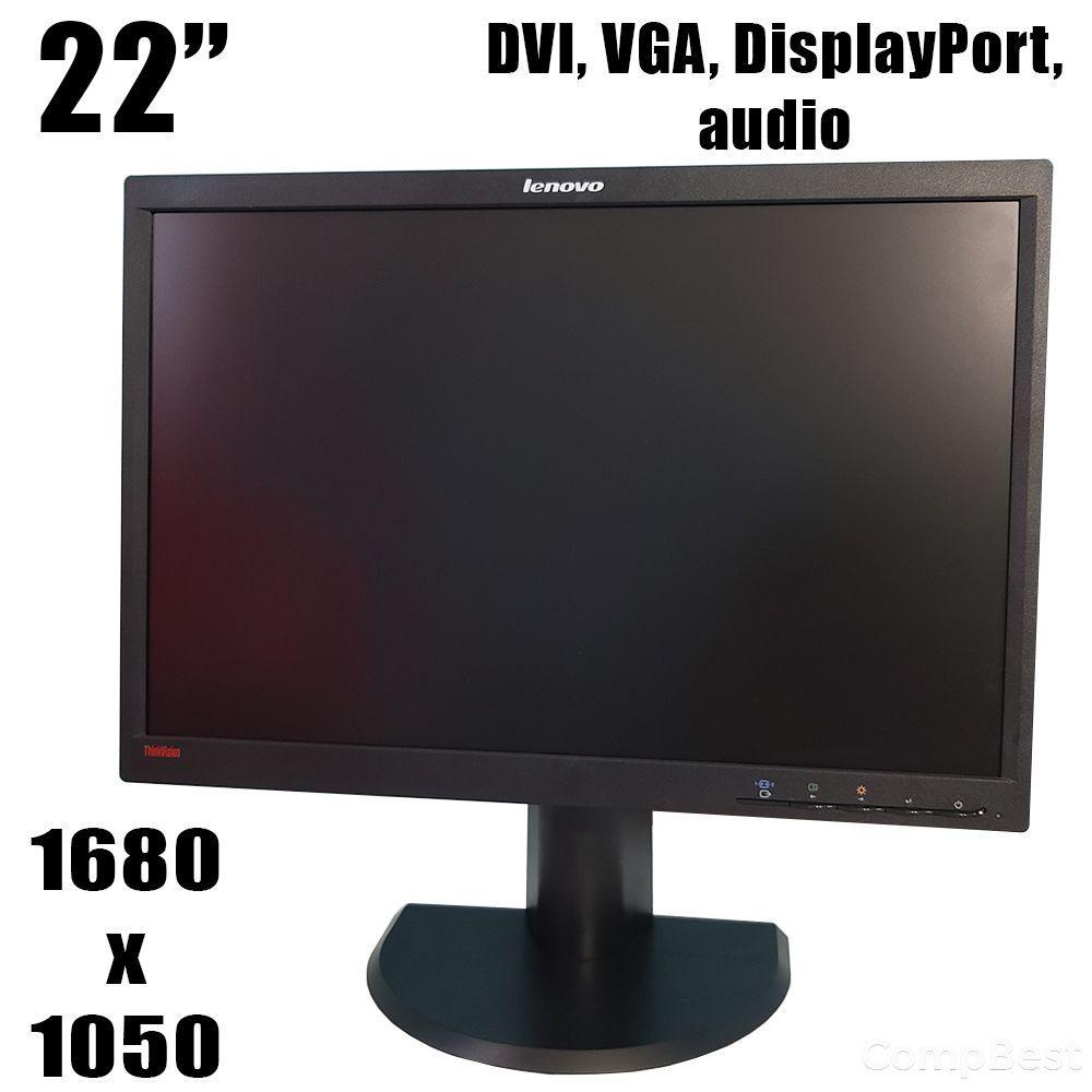 "Lenovo LT2252pwA / 22"" (1680x1050) 16:10 TN / DVI, VGA, DisplayPort, audio"