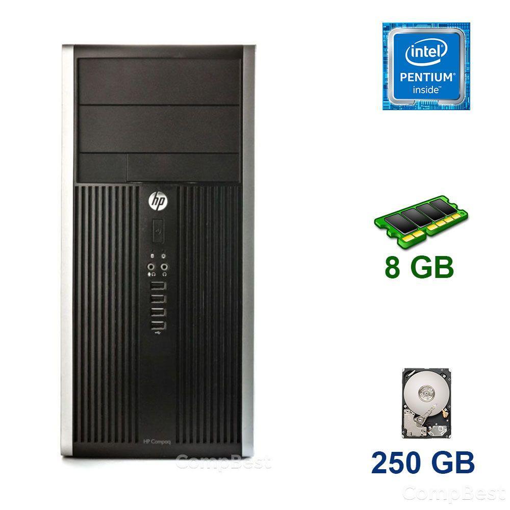 Монитор в подарок! HP Compaq 6000 MT / Intel Pentium E5700 (2 ядра по 3.0 GHz) / 4 GB DDR3 / 250 GB HDD