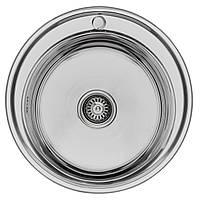Кухонная мойка Lemax нерж.сталь хром (LE-5014 CH) + сифон, фото 1
