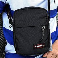 Мужская сумка мессенджер Eastpak THE ONE Country Beige EK04519O черная сумка через плечо. Живое фото. Реплика