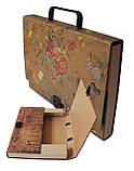 Портфель на замке, 40 мм, А4, КРАФТ-покрытие, фото 2