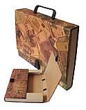 Портфель на замке, 40 мм, А4, КРАФТ-покрытие, фото 3