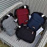 Мужская сумка мессенджер Eastpak THE ONE Country Beige EK04519O сумка через плечо. Живое фото. Реплика, фото 2