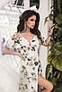 Літній довге жіноче плаття на запах з софта, спідниця-кльош, розміри 42-46, фото 3
