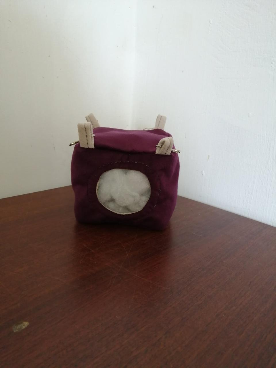 Підвісний будиночок для мишей,хом'яків, 10*10*10 см, Гамак для мишей і хом'яків