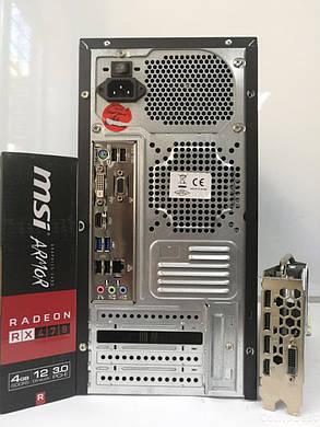 EuroCom ATX / AMD FX-6300 (6 ядер по 3.5 - 3.8GHz)/ 6GB DDR3/ 60GB SSD+320GB HDD/ БП 1300W NEW/ Radeon RX470 4GB DDR5 256bit / HDMI, DVI, DP, фото 2