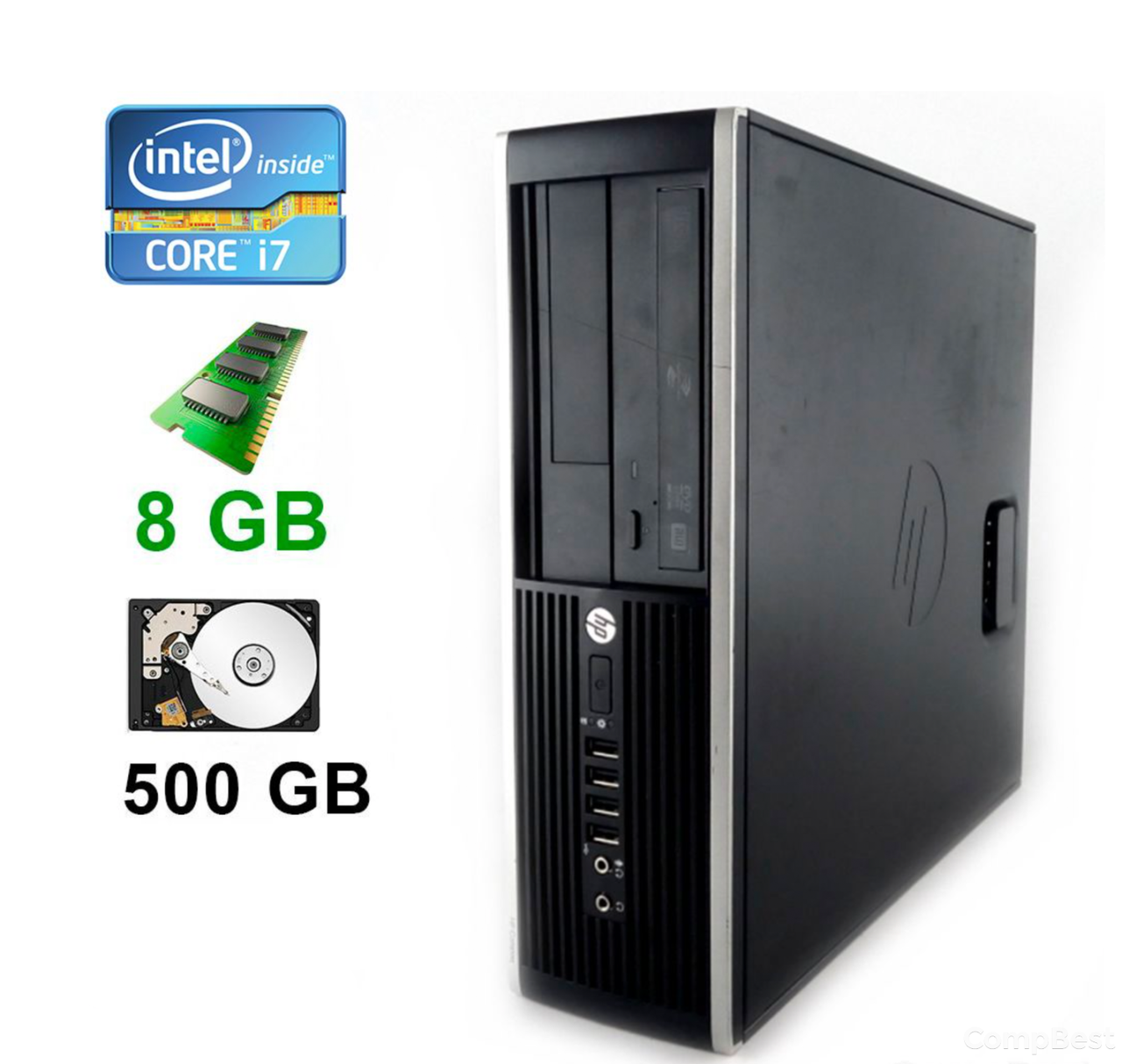 HP Compaq Elite 8200 SFF / Intel® Core™ i7-2600 (4(8)ядра по 3.40 - 3.80GHz) / 8GB DDR3 / 500GB HDD