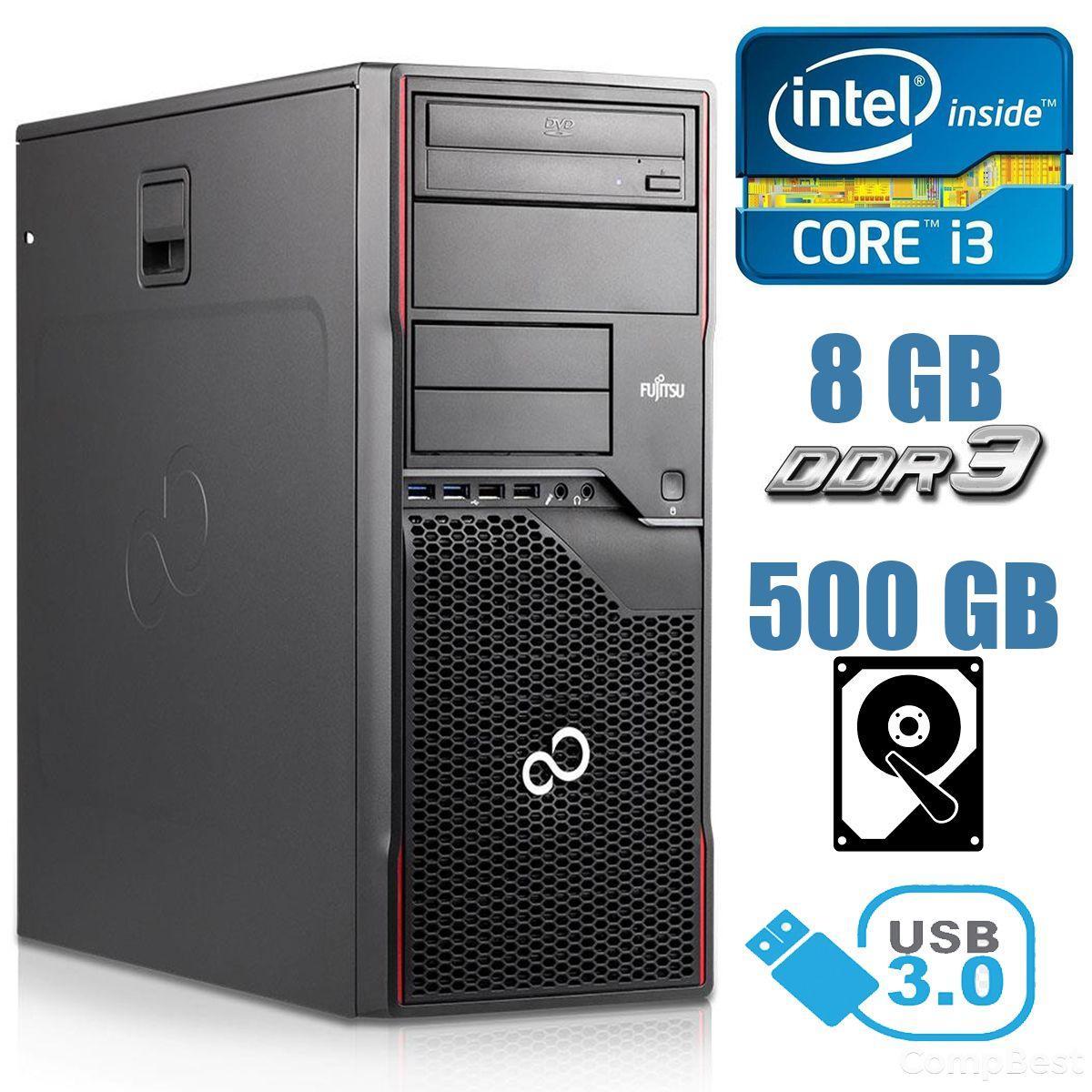 Fujitsu Celsius W420 MT / Intel Core i3-3220 (2 (4) ядер по 3.30 GHz) / 8 GB DDR3 / 500HDD / USB 3.0