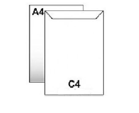 Конверт бумажный С4 с клейким слоем 229х324 мм, белый