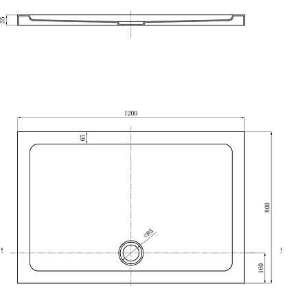 Піддон душовий, прямокут., 120х80, з сифоном FTR2323 COMFORT, фото 2